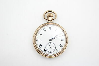 £0.99 • Buy Vintage Gents Rolled Gold Open Face POCKET WATCH Hand-Wind WORKING (102g)