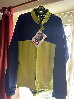 £9.99 • Buy Gill Moab Cycling Jacket Lime Navy Large Top Quality Brand NOS With Tags