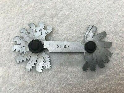 £10 • Buy SI 60° Metric Thread Gauge 0.5mm To 7.0mm Pitch