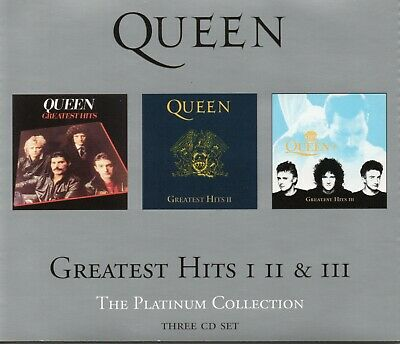 £1.50 • Buy Queen - Greatest Hits, 1,2,3 (3CD) Platinum Collection