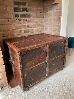 £10 • Buy Vintage Wooden Chest, Coffer, Trunk