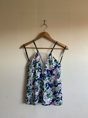 AU20 • Buy Alice Mccall Floral Singlet Top Blouse Size 6 Blue
