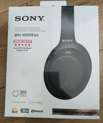 £170 • Buy SONY WH-1000XM3 Wireless Noise Cancelling Headphones - Black *BRAND NEW* SEALED