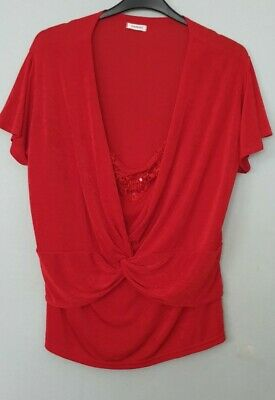 £6.99 • Buy DAMART Red Top Blouse Size 22 / 24