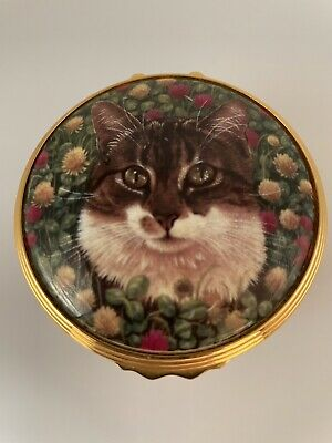 £20 • Buy Royal Worcester Cat Trinket Box From The Connoisseur Collection 2002 Ivory Cats
