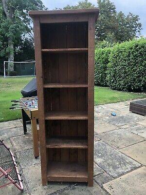 £50 • Buy Tall, Solid Wood Bookcase/shelving Unit With 3 Removable Shelves And 1 Fixed