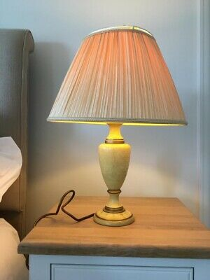 £0.99 • Buy Gold Table Lamp Base & Pleated Shade