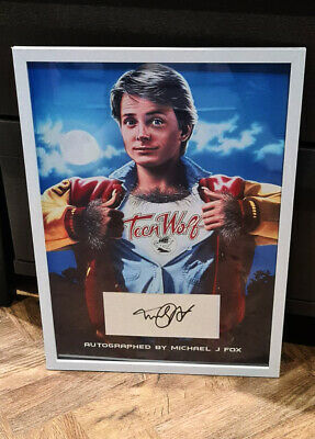 £9.99 • Buy Michael J Fox Signed A3 Display Back To The Future Book Cut Teen Wolf 1985