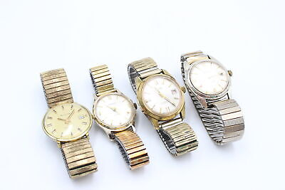 £18 • Buy 4 X Vintage Gents Gold Tone WRISTWATCHES Hand-Wind WORKING Inc. Accurist, Smiths
