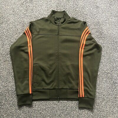 £20 • Buy Adidas Y3 Tracksuit Top Green/Orange XL 22 Inch Pit To Pit.