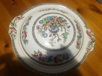 £9 • Buy Vintage Johnson Bros Brothers Indian Tree Covered Serving Vegetable Dish