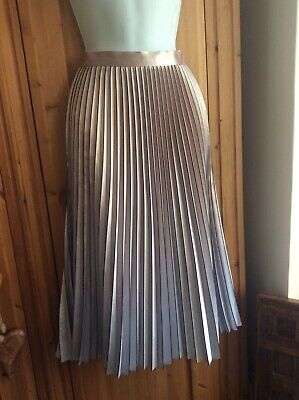 £55.99 • Buy Reiss Gold And Silver Midi Skirt Size 12