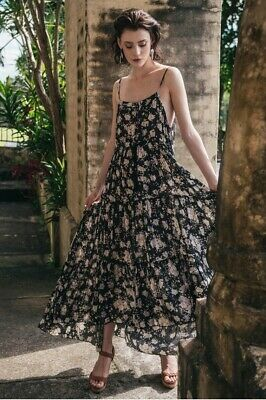 AU299 • Buy Spell And The Gypsy -  Gypsy Dancer Maxi Sundress In Caviar, Size M
