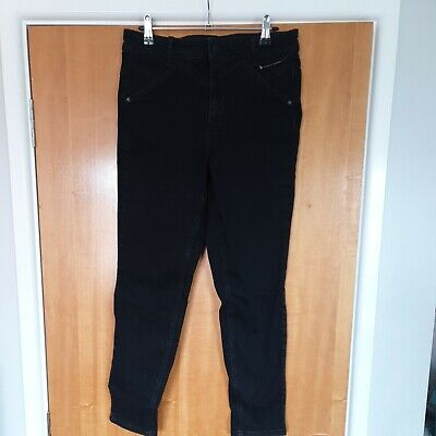 £15 • Buy Free People We The Free Riley Seamed Skinny Jeans In Worn Black Size 31