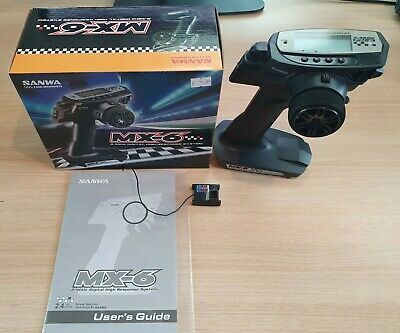 £60 • Buy Sanwa MX6 Transmitter Radio + RX-391W Waterproof Receiver - Excellent Condition