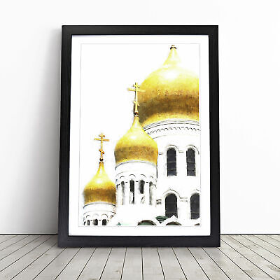 £18.95 • Buy Cathedral In Moscow Painting Wall Art Framed Print Picture