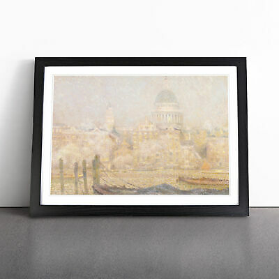 £18.95 • Buy St. Pauls Cathedral By Henri Le Sidaner Wall Art Framed Print Picture