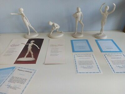 £50 • Buy The Royal Ballet White Porcelain Figurines By Brenda Naylor Collection Of 4