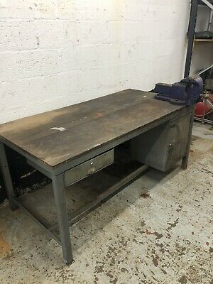 £350 • Buy Heavy Duty Metal Workbench With Record Vice