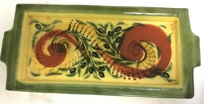 £3.50 • Buy Pre-Owned Barocco Valbonne Heavy French Hand Painted Rectangular Dish