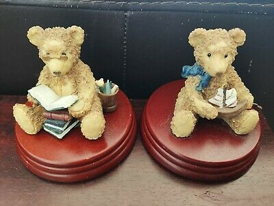 £11.99 • Buy Regency Fine Arts 2 Bears Playtime Teddy And Bookworm Collectable Figurine