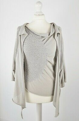 £42.99 • Buy Sarah Pacini Twin Set Top And Cardigan Pale Grey One Size (Small?) Lagenlook