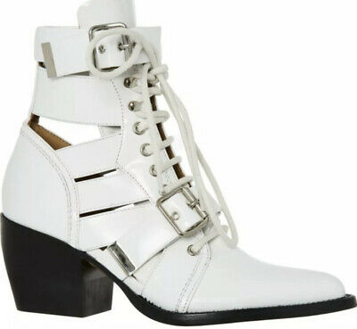 £199.99 • Buy New Chloe Rylee White Glossed Leather Boots Size 4 37 £900