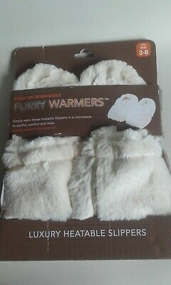 £6 • Buy Heated Slippers Size 3-8 UK. Colour Cream. In Original Packaging. Lavender Scent
