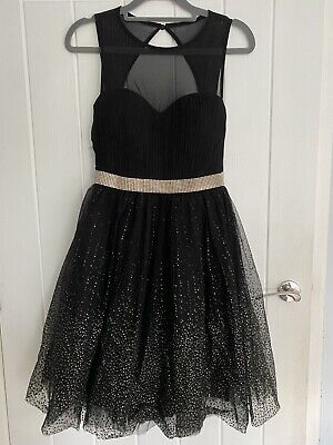 £5 • Buy QUIZ Black And Gold Occasion Dress Party Cocktail Prom. Size 6