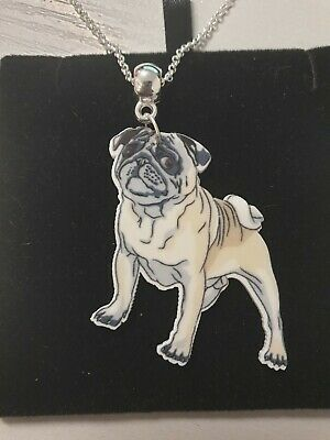 £2.75 • Buy Stunning Pug Resin Necklace.With Organza Bag