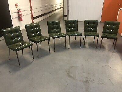 AU185 • Buy Modernist Retro Vintage Dining Chairs Green Dining Chairs X6 $185 Each