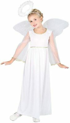 £8.95 • Buy Girls Angel Costume Christmas Nativity White Fancy Dress Outfit Halloween Party