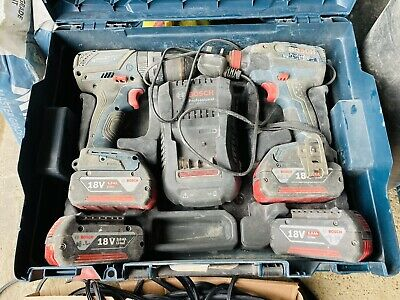 £42 • Buy Bosch Professional 18V Cordless Drill Kit 4 Batteries And Charger
