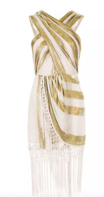 AU90 • Buy Alice McCall Surrealist Dress In Blush/Gold Rrp$495