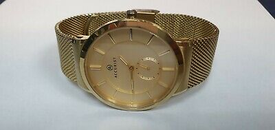 £49.99 • Buy Mens Accurist London Classic Watch 7015 Gold Plated Analogue Dial Mesh Strap