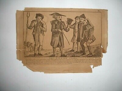 £2.99 • Buy 18th Century Engraving ' THE COUNTRY CRIER ' By W DAVISON