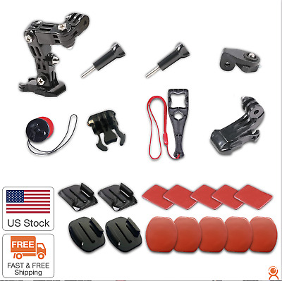 AU17.07 • Buy Motorcycle Helmet Mount Kit Compatible With GoPro Hero 9/8/7/6/5 & 4 Session