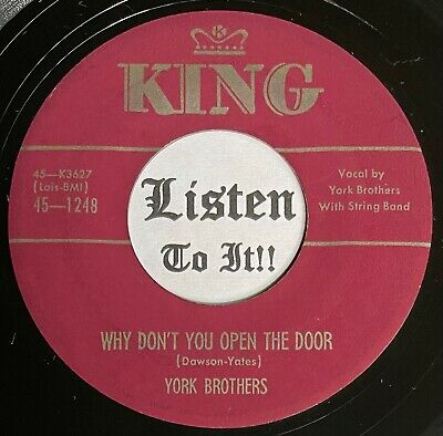£2.93 • Buy Dreamy 50s Hillbilly Bop 45 YORK BROTHERS Why Don't You Open The Door KING  Hear