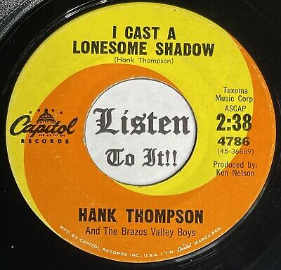 £4.39 • Buy Lonesome Country Bopper 45 HANK THOMPSON I Cast A Shadow /How Many CAPITOL  Hear