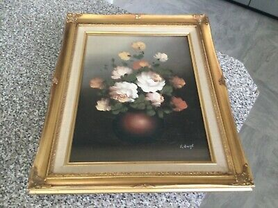 £20 • Buy  Vintage French Style Rococo Gold Gilt Frame Floral Oil Painting