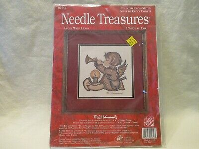 £10.99 • Buy Needle Treasures M. J. Hummel Angel With Horn Counted Cross Stitch Kit