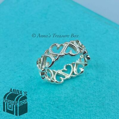 £166.96 • Buy Tiffany & Co. 925 Silver Picasso Multi Mini Loving Heart Ring Band Sz. 6 (pouch)