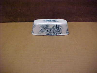 £1.83 • Buy  Enoch Wedgwood Country Side Blue Ceramic Blue England Butter Dish Lid