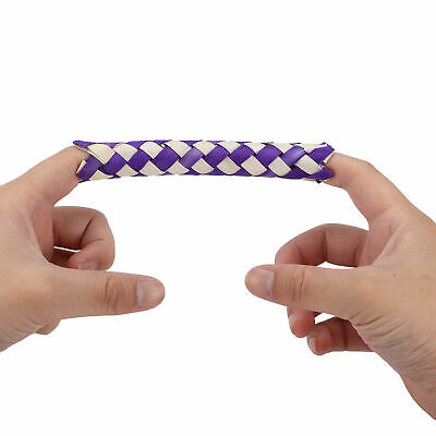 £6.28 • Buy Chinese Bamboo Finger Trap Finger Trap Natural With Natural Bambo For Bird Toys