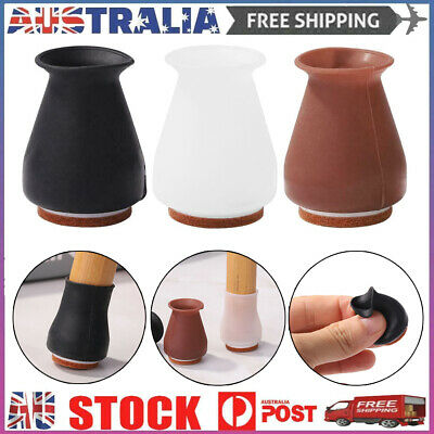 AU8.99 • Buy 4pcs Silicone Furniture Leg Covers Table Chair Feet Thick Pads Floor Protectors