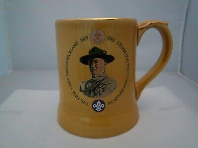 £2.99 • Buy WADE HONEY TANKARD - 75TH ANNIVERSARY OF 1st SCOUT CAMP - (REFS 74/75)