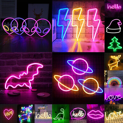£10.49 • Buy Neon Sign Light LED Wall Lights For Bedroom Home Bar Party Art Decoration Lamp