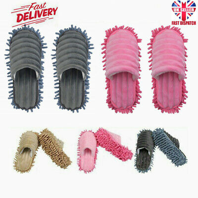 £7.39 • Buy 1 Pair Dust Mop Slippers Lazy Floor Polishing Cleaning Socks Shoes Mop Novelty