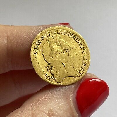 £0.99 • Buy Extremely Rare 1722 George I Half Guinea 22ct Gold Coin - Very Worn