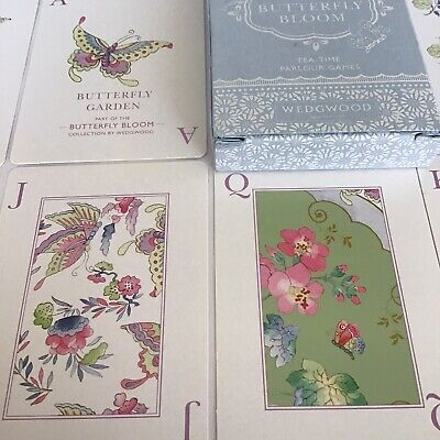 £12 • Buy Wedgwood Butterfly Bloom Teatime Parlour Games Playing Cards Excellent